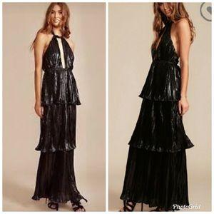 Midnight Kiss Nasty Gal Lioness Maxi Halter Dress
